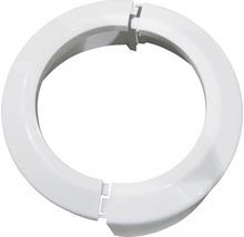 Rosette rabattable en PVC pour WC blanche-thumb-0