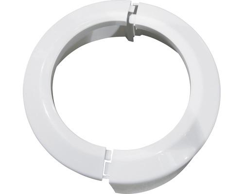 Rosette rabattable en PVC pour WC blanche