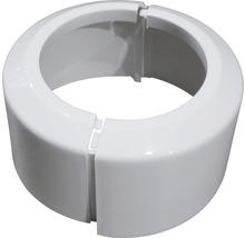 Rosette rabattable en PVC pour WC blanche-thumb-1