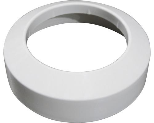 Rosette plate en PVC 110 mm blanche