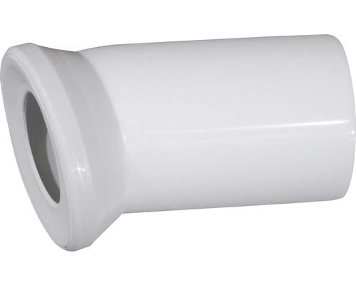 Coude de raccordement pour WC universel 22° blanc