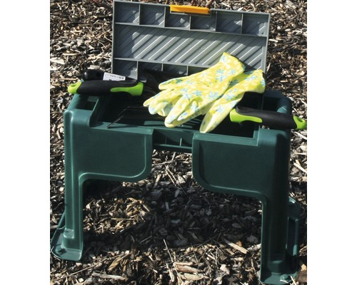 Tabouret de jardin en plastique 3 en 1, vert