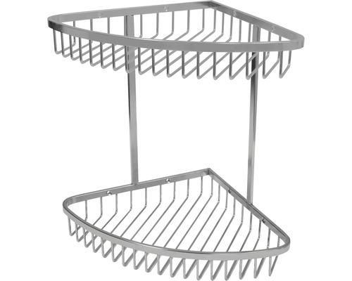 Panier de douche d''angle en acier inoxydable 2 niveaux