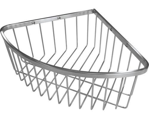 Panier de douche d''angle en acier inoxydable 1 compartiment