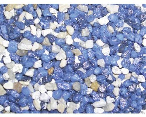 Gravier d''aquarium, mélange multicolore, 5kg, bleu