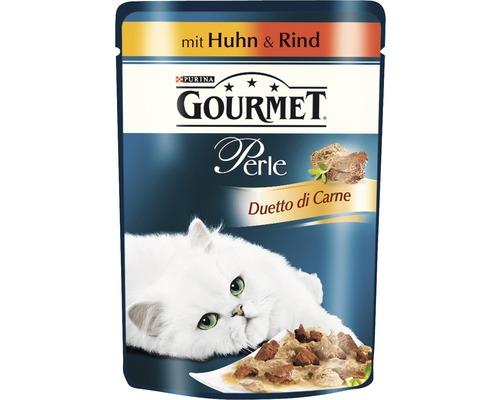 Gourmet Perle Duetto Poulet & Bœuf 85g