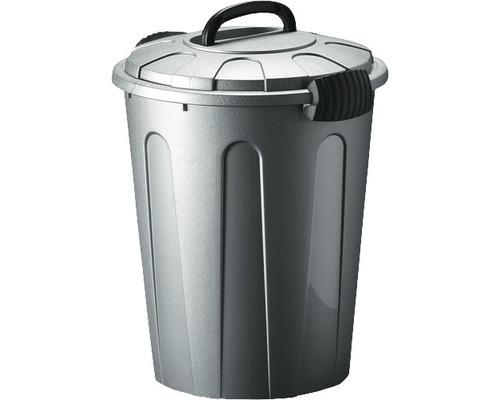 Poubelle pour déchets ménagers, gris 23l