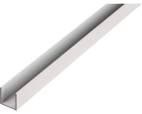 Profilé en U en aluminium 20x20x1,5mm, 2m