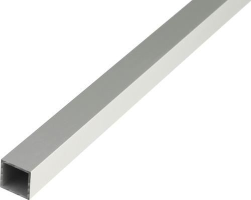 Tube carré en aluminium argenté 20x20x1,5mm, 1m
