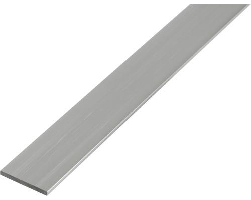 Profilé plat en aluminium argenté 30x2mm, 2m
