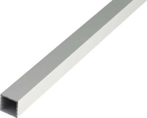 Tube carré en aluminium argenté 20x20x1,5mm, 2m