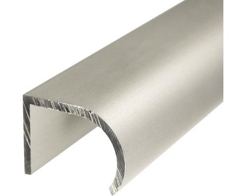 Profilé de poignée en aluminium argenté 25x19 mm, 1 m