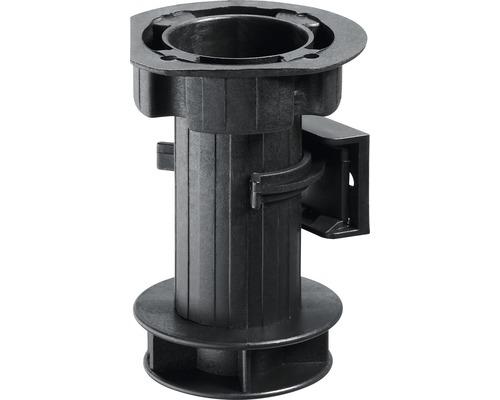 Pied de réglage de socle 100 mm, plastique noir