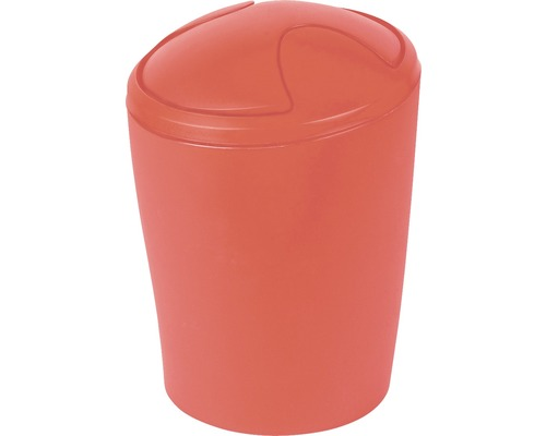 Poubelle à couvercle basculant Spirella Move 5 litres rouge