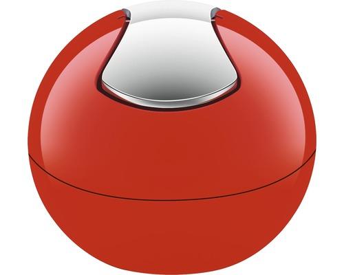 Poubelle à couvercle basculant Spirella Bowl-Shiny 1l rouge