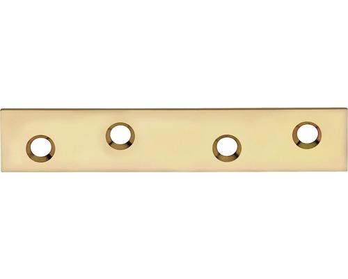 Flachverbinder 80 x 15 mm, galv. gelb verzinkt
