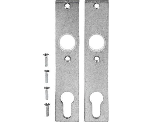 Plaque longue pour portail de jardin, galvanisée, 30x155 mm