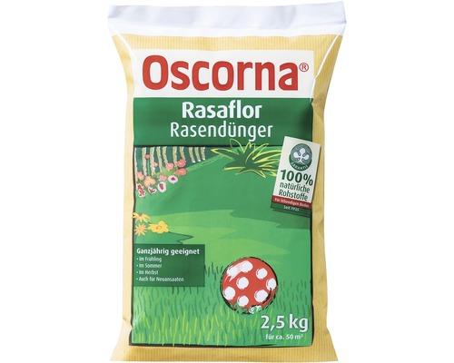 Engrais pour gazon Oscorna Rasaflor engrais organique 2,5 kg 50 m²