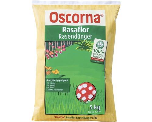 Engrais pour gazon Oscorna Rasaflor engrais organique 5 kg 100 m²
