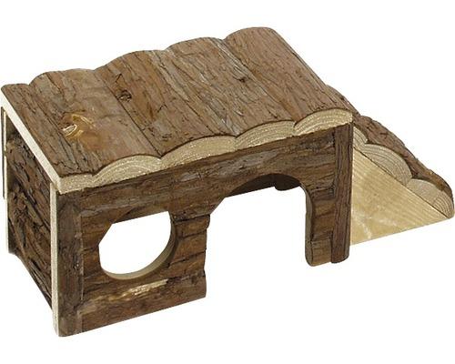 Maison en bois avec échelle Karlie Wonderland 40x18x16cm, nature