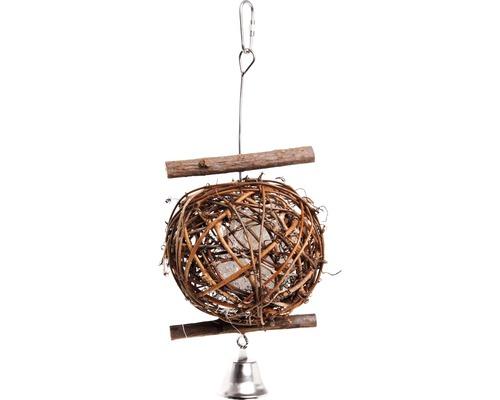 Jouet pour oiseau Karlie Wooden Bird Ball 5cm, naturel