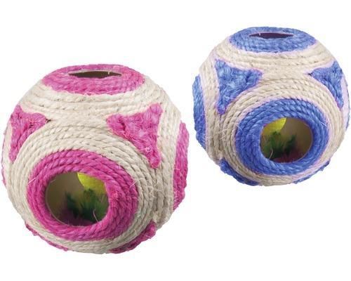 Katzenspielzeug Karlie Sisal Spielball 11 cm zufällige Farbauswahl