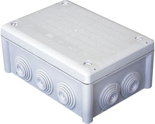 Boîtier de dérivation 160 x 115 x 70 mm avec bornier gris clair