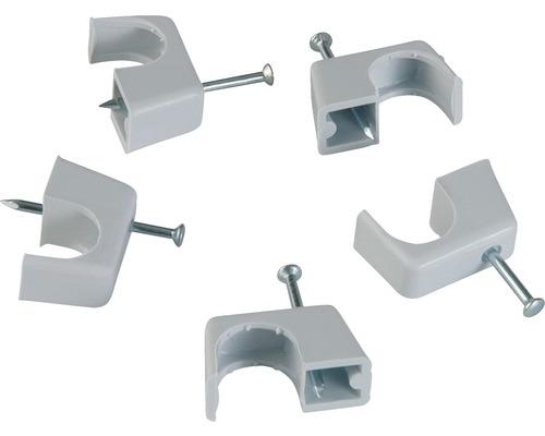 Brides à clouer 10-14 mm blanc 25 unités