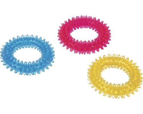 Anneau denté TPR petit 9 cm, couleurs assorties