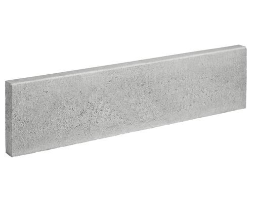 Bordure de gazon gris un côté chanfreiné 100 x 25 x 6 cm