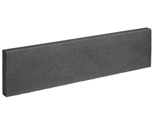 Pierre de bordure anthracite deux côtés chanfreinés 100 x 25 x 6 cm