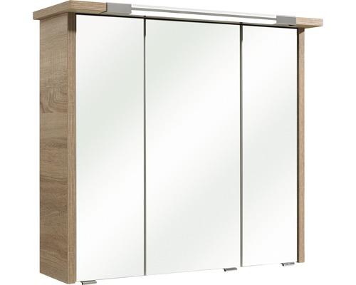 Spiegelschrank Pelipal Prato Ii 75cm Eiche Natur Quer 045 467569 Ip