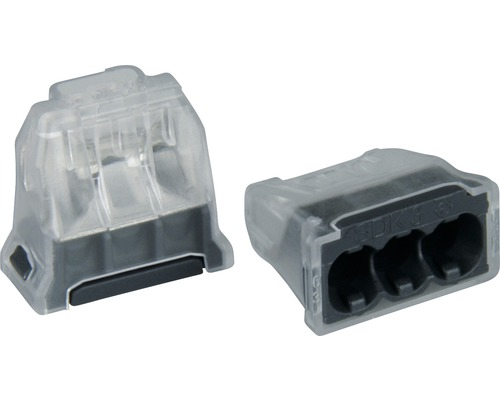 Connecteur femelle 3 x 0.5 - 2.5 mm² gris 25 unités