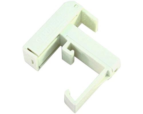 Support de serrage PVC pour stores vénitiens alu blanc pack de 2