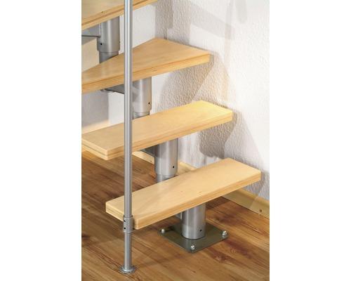 Élément de marche Pertura Spiros hêtre pour escalier l:65 cm