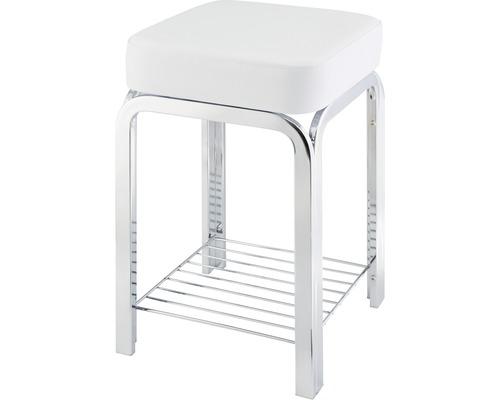 Tabouret de salle de bain Form & Style blanc, chromé