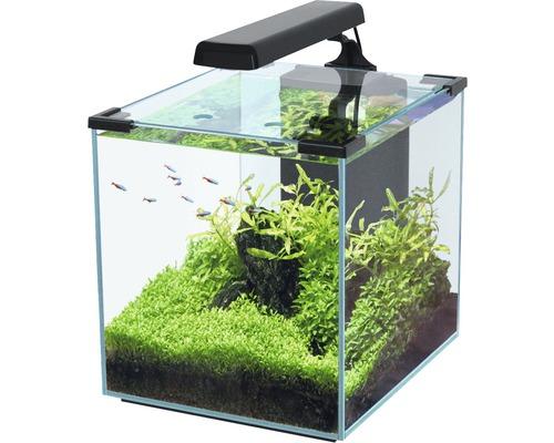 aquarium nano cubic 30 noir hornbach luxembourg. Black Bedroom Furniture Sets. Home Design Ideas