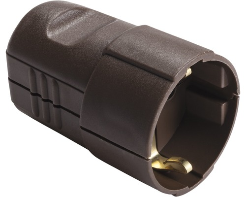 Contact de protection pour connecteur 16A IP20 droit marron