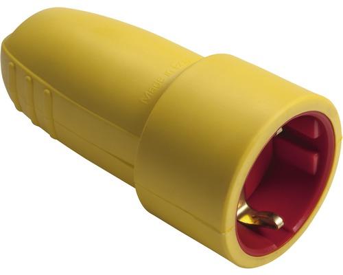 Contact de protection pour raccord en caoutchouc 16A IP20 jaune