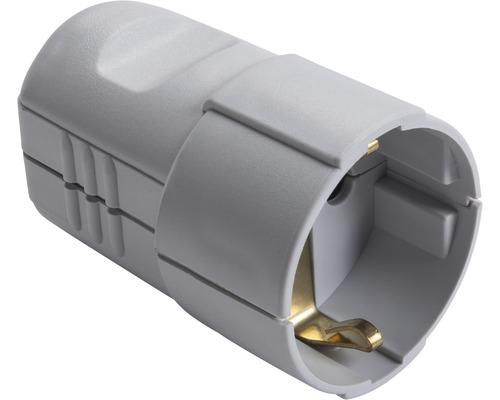 Contact de protection pour connecteur droit 16A IP20 droit gris clair