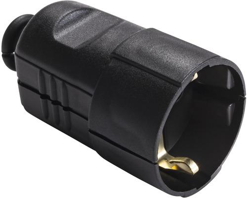 Contact de protection pour connecteur avec douille 16A IP20 noir