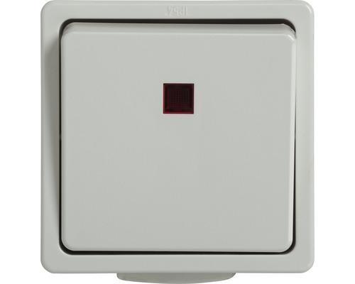 Interrupteur de commande/inverseur en saillie pour pièce humide blanc ultra