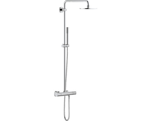 Système de douche Grohe Rainshower 210 avec thermostat pour montage mural 27032000 chrome