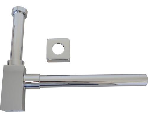 """Design-Siphon Quattro eckig 1 1/4"""" chrom"""