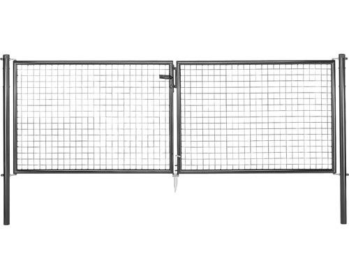 Portillon grillage ondulé 300 x 75 cm, anthracite