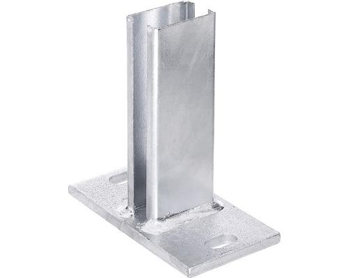Pfostenfuß für Profilrohrpfosten 60 x 40 mm