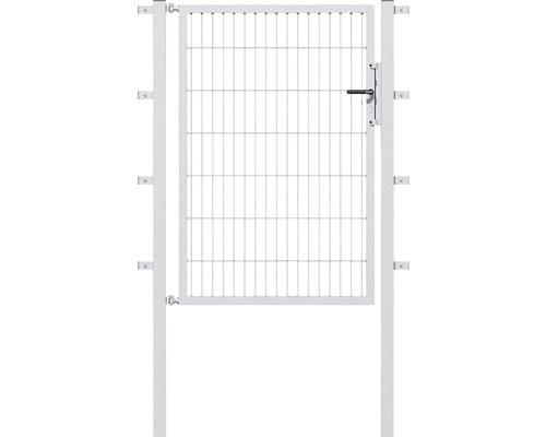 Portail simple en grillage, 100 x 100 cm, avec poteaux 6 x 6 cm, galvanisé à chaud