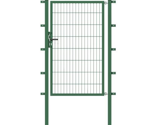Portail simple en grillage, 100 x 100 cm, avec poteaux 6 x 6 cm, vert