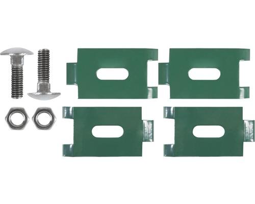 Cornières d''assemblage pour grille, avec vis, 2 pièces, vert