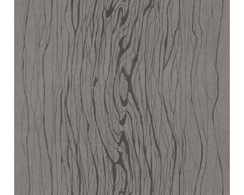 Papier peint intissé Colani VISIONS Veinure bois gris foncé